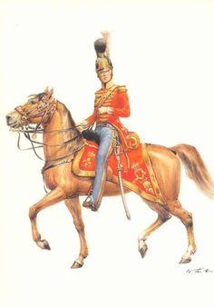 Illustrateurs - Tritt W. Armeé de France 1720-1814 - Les costumes militaires -Chevaulègers de la Garde du Roi - Officier