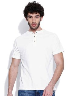 Dream of Glory Inc. White Henley T-shirt