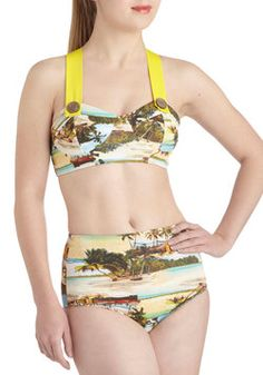 Poolside Paradise Two Piece in Photographs, #ModCloth