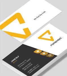 Modern contemporary business card design art collector business modern contemporary business card design forensic business card colourmoves Images