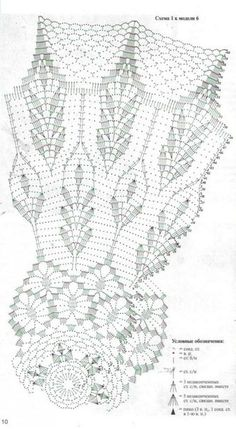 Umbrella crochet chart pattern