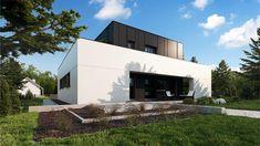 Zx143 - Dom jednorodzinny z pełnym piętrem i garażem dwustanowiskowym.