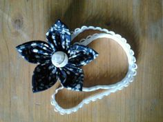 dark blue starry flower- headband