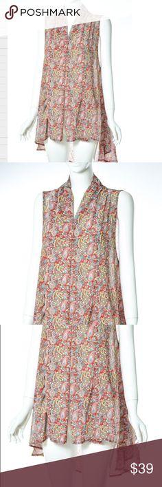Paisley Sheer Vest 100% Polyester                                                     Hi - Low Vest                                                        Versatile Colors                                                         Wear with jeans, leggings, or dress Jackets & Coats Vests