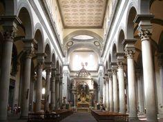 Basilica di Santo Spirito, interno (1434-1487) Filippo Brunelleschi