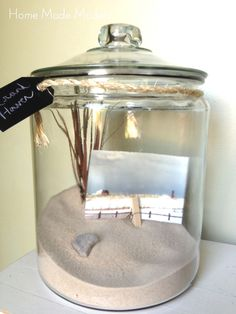 Bring the Beach Home with DIY Coastal Decor: Beach Vacation Memory JarThese eight elegant DIY coastal accessories for your home were made using items on the beach or handmade replicas, add .Next Post Previous Post Bring the Beach Home with DIY Coasta Easy Home Decor, Handmade Home Decor, Cheap Home Decor, Summer Deco, Beach Cottage Style, Beach House Decor, Beach Houses, Beach Cottages, Beach Room Decor