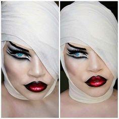 #makeup #mua #makeupartist #makeupart #smokeyeye #black #redlips #lipstick #art #artist #extrememakeup #photography #face #portrait