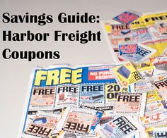 Guide to Harbor Freight Coupons, Deals and Free Stuff Harbor Freight Coupon, Harbor Freight Tools, Free Coupons, Coupon Deals, Free Things, Free Stuff, Getting Organized, Money Savers, Entertaining