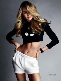 Candice Swanepoel in Marc Jacobs SS13 Sequin Mickey Sweatshirt for Vogue