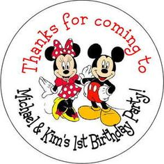 Mickey and Minnie Birthday Party | ... -Minnie-Mouse-Personalized-favor-stickers-personalized-Birthday-party