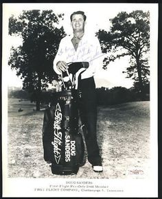 """DOUG SANDERS FIRST FLIGHT SIGNED 8X10 PHOTO JSA COA . $30.00. AMERICAN GOLFER AND FIRST FLIGHT PRO-ONLY STAFF MEMBER,DOUG SANDERSHAND SIGNED BW GOLF PHOTO 8X10"""" GREAT AUTHENTIC GOLF COLLECTIBLE!! .AUTOGRAPH AUTHENTICATED BY JAMES SPENCE AUTHENTICATIONS WITH NUMBERED JSA AUTHENTICATION STICKER ON ITEM AND MATCHING NUMBEREDJSA CERTIFICATE OF AUTHENTICITY (COA) INCLUDED.JSACOA: # F33476ITEM PICTURED IS ACTUAL ITEM BUYER WILL RECEIVE.ITEM IS SOLD AS IS, NO REFUNDS AND NO ..."""