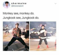 BTS Mic Drop Monkey see, monkey do, Kookie do the same as you Taekook, Btob, Namjin, Yoonmin, Vixx, K Pop, Cypher Pt 4, Vkook Memes, Bts Memes Hilarious