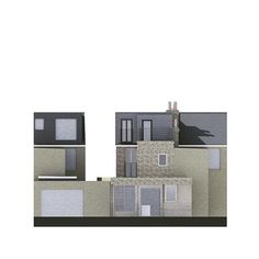Developing Scheme | Rear Elevation Render. Remodelling the interior to open up the ground floor plan bringing in daylight as well as exploring ways of inhabiting the circulation spaces. Proposals for a new loft extension. Hoping to realise the full potential of this charming victorian cottage. #architecture #extension #remodel #cottage #house #teddington #london #brick #timber #concept #render #studioSH #riba #dontmoveimprove London Brick, Victorian Cottage, Ground Floor Plan, Cottage House, Proposals, Open Up, Exploring, Floor Plans, Loft