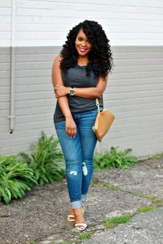 I love work spring outfits women 8174775687 Big Girl Fashion, Black Women Fashion, Womens Fashion, Curvy Petite Fashion, Plus Size Fashion, Denim Fashion, Fashion Outfits, 50 Fashion, Cheap Fashion