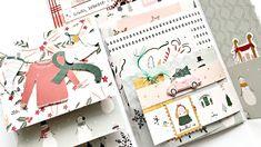 zwei tolle Journal Folder Minialben mit vielen Klappen | Januarkit und M... Project Life, Paper Snowflakes, Crate Paper, Album, Journal, Crates, Notebook, Inspiration, Scrap