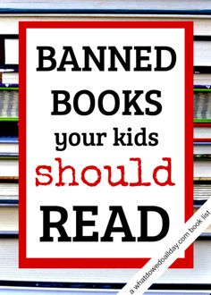 Banned books for kids. Books I loved as a kid and books my children love now. From @momandkiddo