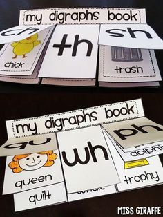 Teach Your Child to Read - Digraphs books that are super fun to make as digraph word sort activities - Give Your Child a Head Start, and.Pave the Way for a Bright, Successful Future. Phonics Reading, Teaching Phonics, Kindergarten Literacy, Student Teaching, Literacy Activities, Teaching Reading, Preschool, Zoo Phonics, Phonics Rules