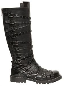 GARETH PUGH - BELTED LEATHER BOOTS - LUISAVIAROMA - LUXURY SHOPPING WORLDWIDE SHIPPING - FLORENCE