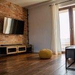 Szafka RTV APRIL-industrialna komoda z metalu i drewna Curtains, Metal, Home Decor, Bedroom Closets, Yurts, Furniture, Photos, Blinds, Metals
