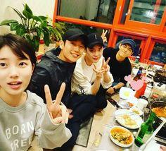 bae suzy, jung hae in, lee jong suk & shin jae ha while you were sleeping 2017 Lee Jong Suk Cute, Lee Jung Suk, Korean Celebrities, Korean Actors, Korean Dramas, Suzy Drama, Kdrama, Chan Lee, W Two Worlds
