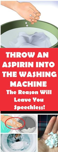 Throw An Aspirin Into The Washing Machine! The Reason Will Leave You Speechless!… Throw An Aspirin Into The Washing Machine! Deep Cleaning, Spring Cleaning, Cleaning Hacks, Diy Hacks, Kitchen Cleaning, Bathroom Cleaning, Diy Cleaning Products, Cleaning Solutions, Thing 1