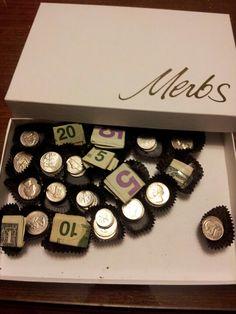 It's chocolate... No. It's money! Creative gift idea.