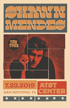 Poster - Shawn Mendes The Tour. Shawn Mendes Poster, Shawn Mendes Tour, Shawn Mendes Concert, Tour Posters, Band Posters, Vintage Music Posters, Shawn Mendes Wallpaper, Concert Posters, Art Plastique
