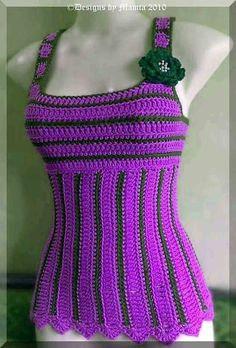 Crochet Blouse Crochet Tank Top Pattern For Women Sleeveless Camisole Shirt - This Sexy Crochet Bodycon Dresses, Black Crochet Dress, Crochet Tank, Crochet Blouse, Vest Pattern, Top Pattern, Pattern Books, Blog Crochet, Crochet Hook Sizes