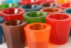 Could be cool- shot glass molds filled with jello?