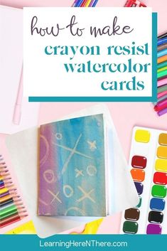 This crayon resist water color card is an easy craft to make with kids and would be perfect for Mother's Day, or Teacher Appreciation.