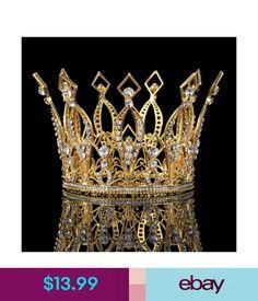 Bridal Accessories Elegant Gold Plated Wedding Bridal Crystal Rhinestone  Dress Hair Tiara Headband  ebay  Fashion d12d2696addb