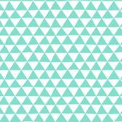 Spoonflower mint triangles