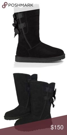 BRAND NEW* Ugg Everleigh Boots Beautiful black, tall shaft, Everleigh Ugg boots. Very rare, hard to find. Similar to Ugg Bailey boots. 2 bows on the back of these boots. Will post more pics shortly. Womens size 6  *RETAIL - $230 UGG Shoes Winter & Rain Boots