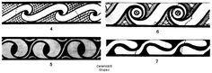 Prin adăugarea unui punct sau unui ochi în şerpuirea benzii, ca punct de pauză, atenţia privitorului nu se mai îndreaptă asupra motivelor cruţate în forma literei S, ci asupra formelor ornamentale pictate. Motivul în forma literei S este neglijat sau chiar se renunţă la el. Romania, Traditional, Decor, Google Search, Tatoo, Dressmaking, Decoration, Decorating, Deco