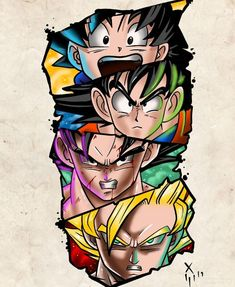 Dragon Ball - Dragon Ball Z- Dragon Ball- Anime Dragon Ball Z, Dragon Z, Z Tattoo, Comic Tattoo, Fan Art, Neue Tattoos, Cartoon Art, Dbz Drawings, Dbz Memes
