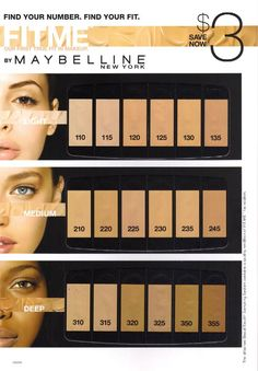 Maybelline Fit Me foundation range: