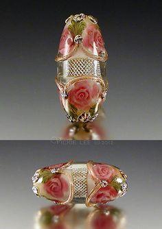 Pink Rose Mesh Focal by Vickie Lee