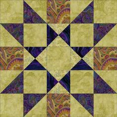 Free Quilt Block Patterns, M through S: Providence Quilt Block Pattern - 12-1/2""