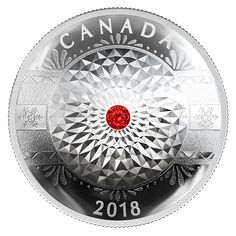 25 dollari Canada 2018. Pure Silver Coin made with Swarovski® Crystals - Classic Holiday Ornament - Mintage: 5,500