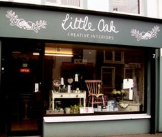 Little Oaks Creative Interiors is a country home style of shop in Magherafelt, Northern Ireland, full of painted furniture. Logo Inspiration, Interior Inspiration, Annie Sloan Stockists, Make Chalk Paint, Future Shop, Store Layout, Brick And Mortar, Lovely Shop, Shop Fronts