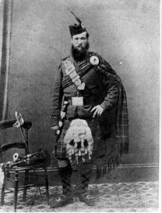 John Peter Grant from Perthshire, Scotland. He was in the 79th Regiment of Foot from 1859 to 1869, serving in India.
