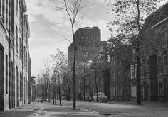 Kaiserstraat met de Van der Klaauwtoren (1960).