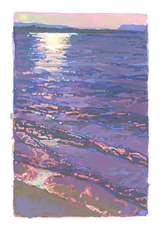 Evening Water,Trempealeau, Wisconsin, x Landscape Paintings, Landscapes, Gouache Painting, Contemporary Artists, Artsy Fartsy, All Art, Wisconsin, Watercolor, Inspiration
