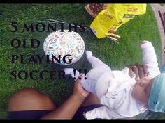 5 months old baby playing soccer/future Messi