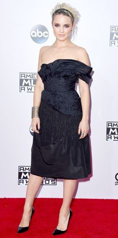 The Best Looks from the 2014 American Music Awards - Dianna Agron from #InStyle: wearing Marchesa