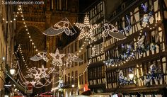 Christmas lights in Strasbourg in France