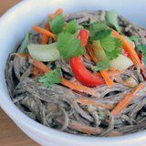 Recipe For Soba Noodle Salad With Peanut and Ginger Sauce