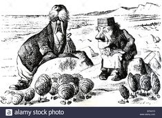 Alice Through The Looking Glass The Walrus And The Carpenter As Drawn Stock Photo, Royalty Free Image: 21995095 - Alamy