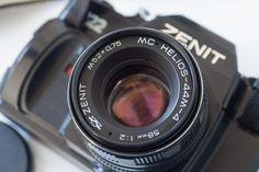 ZENIT-122 Russian 35mm SLR camera + HELIOS MC 44M-4 Lens Mint condition #Zenit