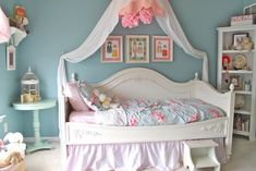 Girls Daybed Room, Girls Bedroom, Bedroom Decor, Bedroom Ideas, Bedroom Designs, Pink Bedrooms, Shabby Chic Bedrooms, Shabby Chic Homes, Feminine Bedroom